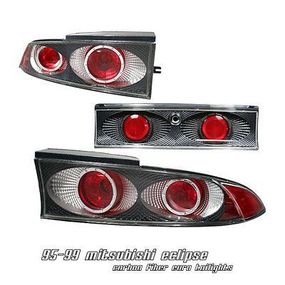 Mitsubishi Eclipse 1995-1999 Carbon Fiber Altezza Tail Lights