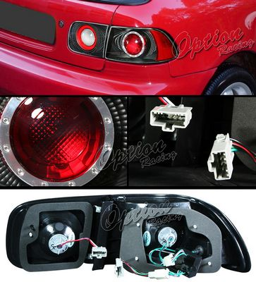 Honda Civic 1992-1995 Black Altezza Tail Lights