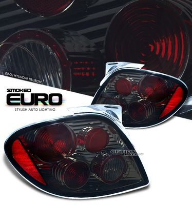 Hyundai Tiburon 2000-2002 Smoked Altezza Tail Lights