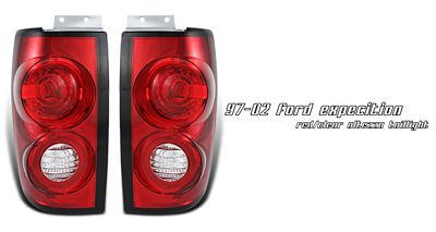 Ford Expedition 1997-2002 Red and Clear Altezza Tail Lights