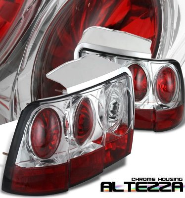 Ford Mustang 1999-2004 Chrome Altezza Tail Lights