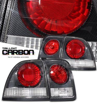 Honda Accord 1996-1997 Carbon Fiber Altezza Tail Lights
