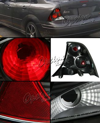 Ford Focus Sedan 2000-2004 Black Altezza Tail Lights
