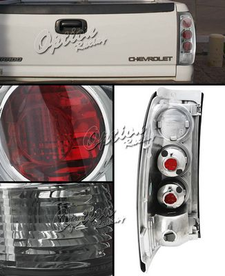 Chevy Silverado 1999-2002 Smoked Altezza Tail Lights