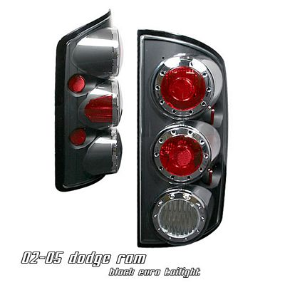 Dodge Ram 2002-2005 Black Altezza Tail Lights