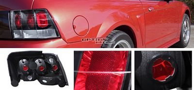 Ford Mustang 1999-2004 Black Altezza G1 Tail Lights