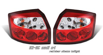 Audi A4 2002-2005 Red and Clear Altezza Tail Lights