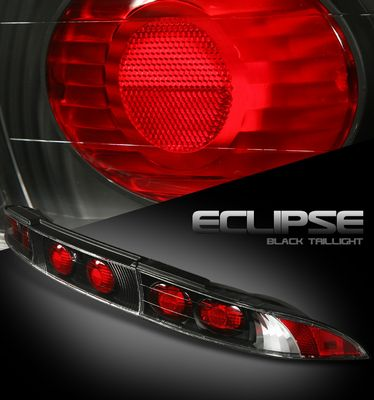 Mitsubishi Eclipse 1995-1999 Black Altezza Tail Lights