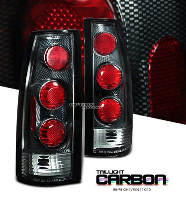 Chevy Blazer Full Size 1992-1994 Carbon Fiber Altezza Tail Lights