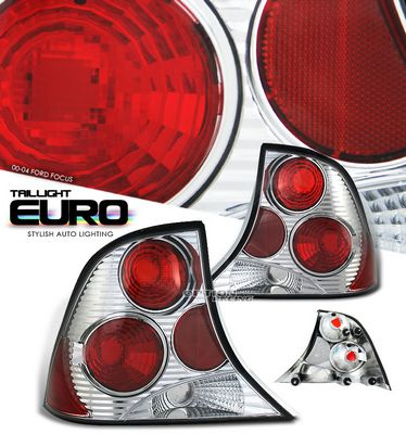 Ford Focus Sedan 2000-2004 Clear Altezza Tail Lights
