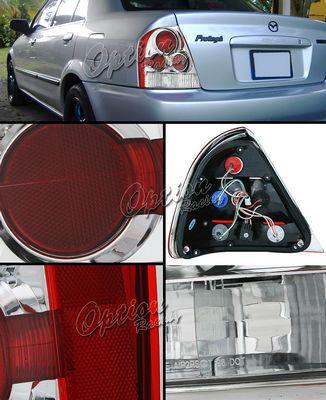 Mazda Protege 1999-2003 Clear Altezza Tail Lights