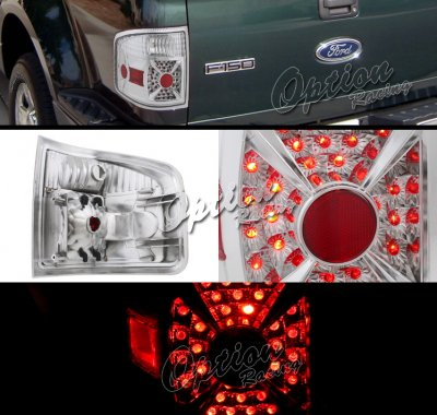 Ford F150 Flareside 2004-2008 Clear LED Style Tail Lights