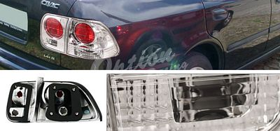 Honda Civic Sedan 1996-1998 Clear Altezza Tail Lights