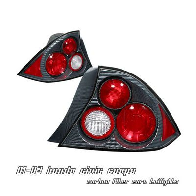 Honda Civic Coupe 2001-2003 Carbon Fiber Altezza Tail Lights