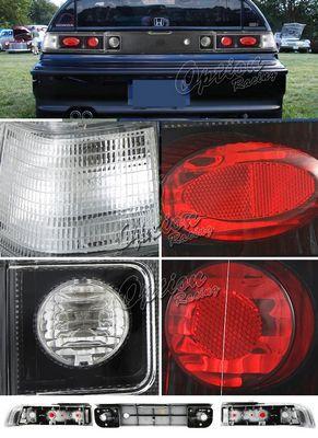 Honda CRX 1988-1991 Carbon Fiber Altezza Tail Lights