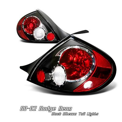 Dodge Neon 2000-2002 Black Altezza Tail Lights