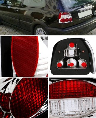 VW Golf 1993-1998 Clear Altezza Tail Lights