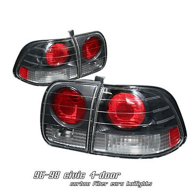 Honda Civic Sedan 1996-1998 Carbon Fiber Altezza Tail Lights