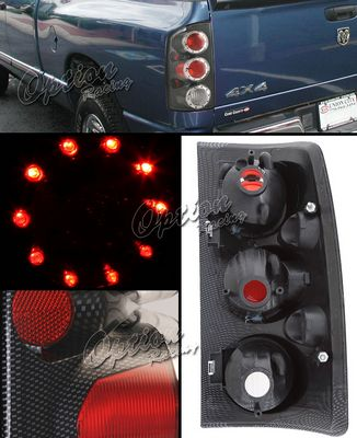 Dodge Ram 2002-2005 Carbon Fiber LED Cap Altezza Tail Lights