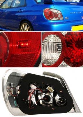 Subaru Impreza WRX 2002-2003 Clear Altezza Tail Lights