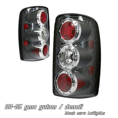 GMC Yukon Denali 2001-2006 Black Altezza Tail Lights