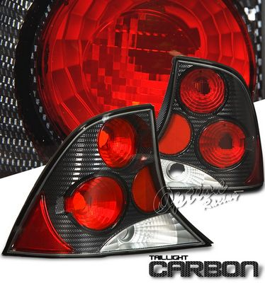 Ford Focus Sedan 2000-2004 Carbon Fiber Altezza Tail Lights