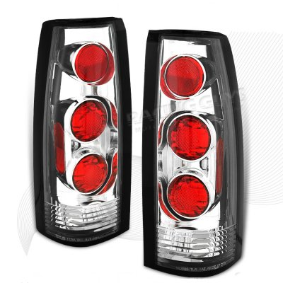 Cadillac Escalade 1999-2000 Chrome Altezza G1 Tail Lights