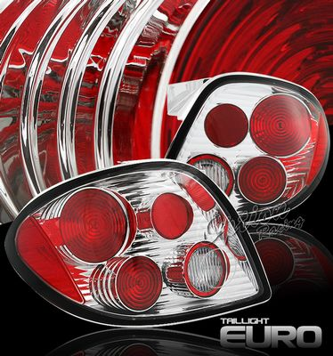 Hyundai Tiburon 2000-2002 Clear Altezza Tail Lights