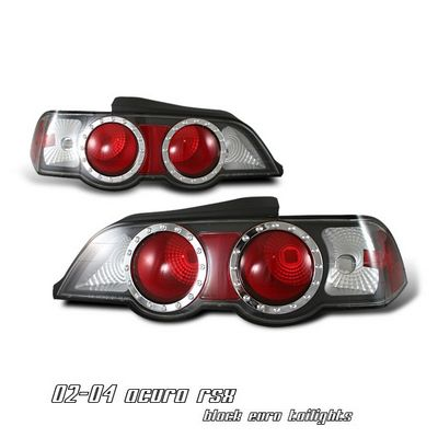Acura RSX 2002-2004 JDM Black Altezza Tail Lights