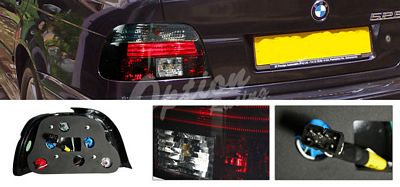BMW E39 5 Series 1997-2000 Smoked Euro Tail Lights