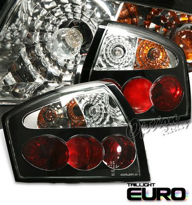 Audi A4 2002-2005 Black Altezza Tail Lights