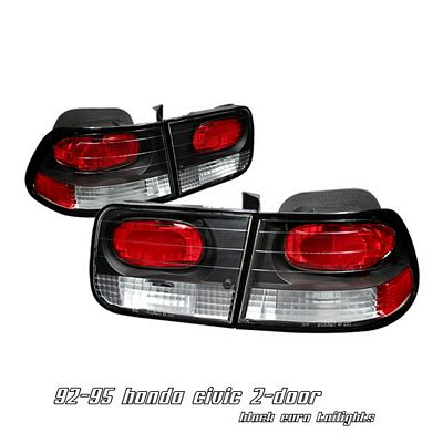 Honda Civic Coupe 1996-2000 Black Altezza Tail Lights