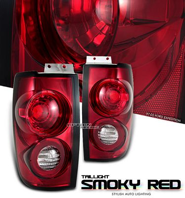 Ford Expedition 1997-2002 Smoky Red Altezza Tail Lights