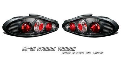 Hyundai Tiburon 1997-1999 Black Altezza Tail Lights