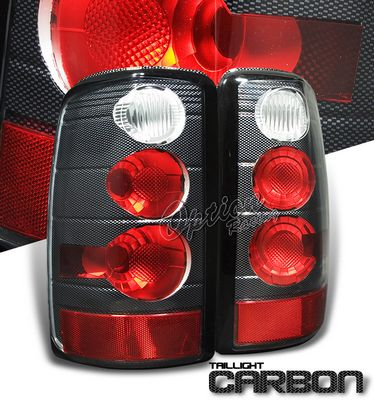Chevy Tahoe 2000-2006 Carbon Fiber Altezza Tail Lights