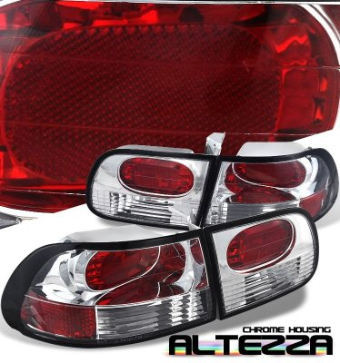 Honda Civic Hatchback 1992-1995 Clear Altezza Tail Lights