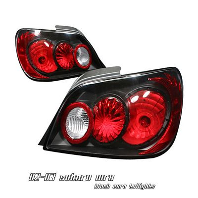 Subaru Impreza 2002-2003 Black Altezza Tail LightsTail Lights