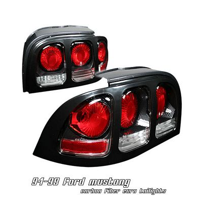 Ford Mustang 1994-1998  Carbon Fiber Altezza Tail Lights