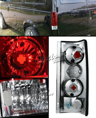 Chevy Astro 1985-2005 Red and Clear Altezza Tail Lights