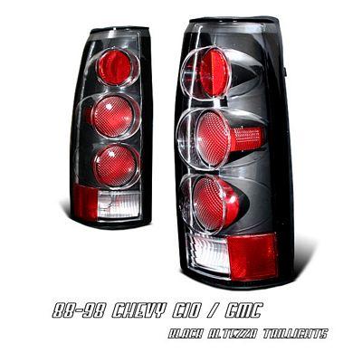 Chevy Blazer Full Size 1992-1994 Black Altezza Tail Lights