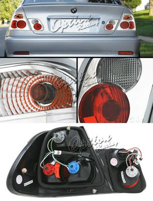 BMW E46 Sedan 3 Series 1999-2001 Clear Altezza Tail Lights