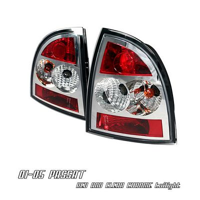 VW Passat 2002-2005 Red and Clear Altezza Tail Lights