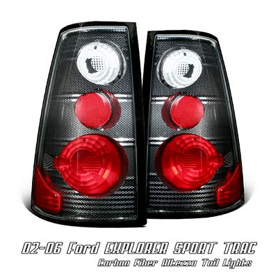 Ford Explorer Sport Trac 2002-2005 Carbon Fiber Altezza Tail Lights