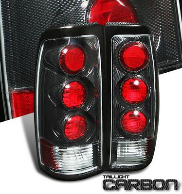 Chevy Silverado 1999-2002 Carbon Fiber Altezza Tail Lights