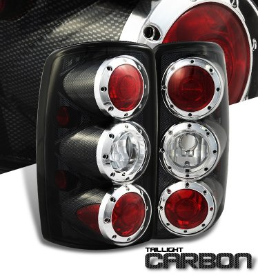 Chevy Suburban 2000-2006 Carbon Fiber Altezza Tail Lights