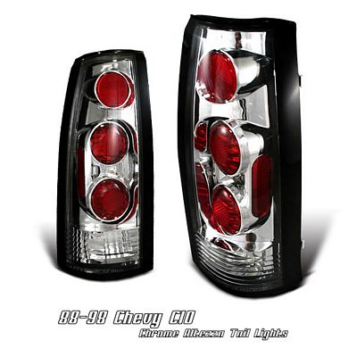 Chevy Tahoe 1995-1999 Chrome Altezza G1 Tail Lights