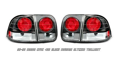 Honda Civic Sedan 1996-1998 Black Altezza Tail Lights