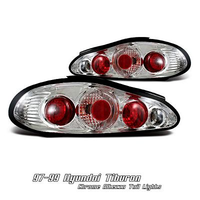 Hyundai Tiburon 1997-1999 Clear Altezza Tail Lights
