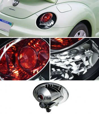 VW Beetle 1998-2005 Black Altezza Tail Lights