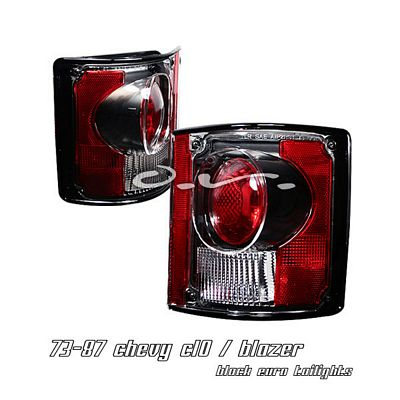 Chevy C10 1973-1987 Black Altezza Tail Lights
